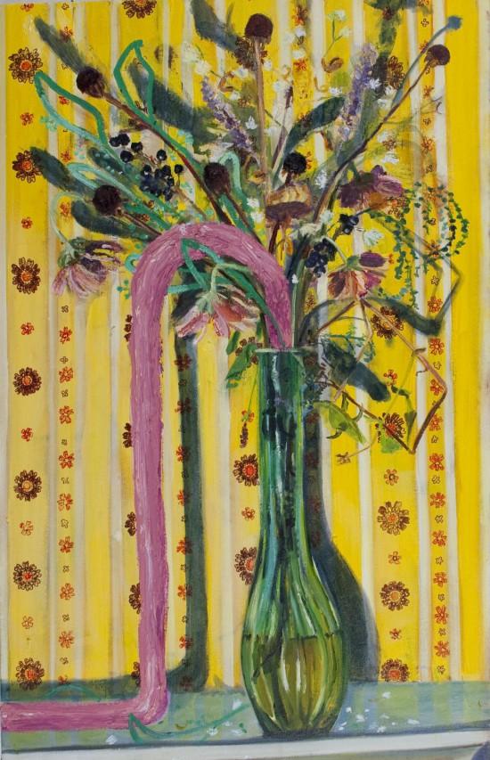 flowers wilt in a vase in my studio