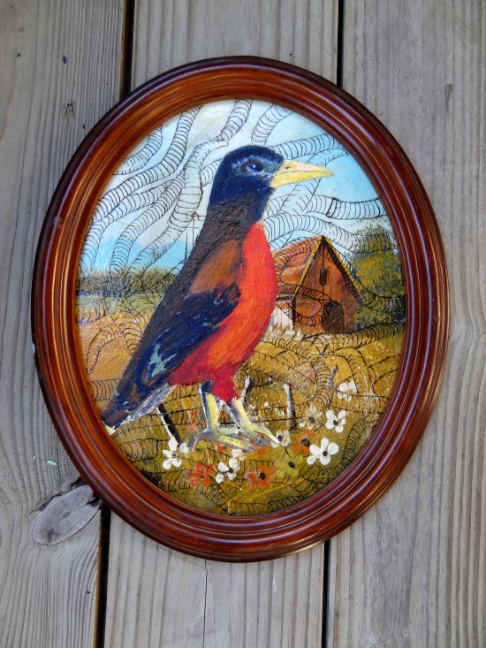 robin bird barn cottage kitsch