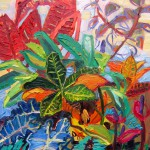 indianapolis zoo naturally inspired paint out event 2010 oil painting nature leaves
